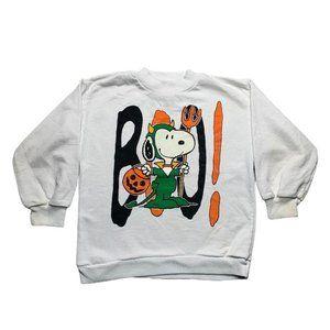 Snoopy Halloween Vintage Kids Pullover Sweatshirt